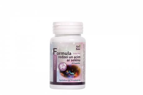Eye Formula with selenium Aptiekas produkcija Supplements