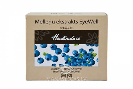 Blueberry extract EyeWell Aptiekas produkcija Supplements
