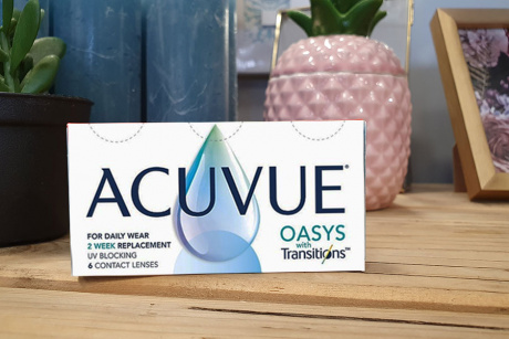 Acuvue Oasys with Transitions Johnson & Johnson Monthly disposable