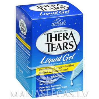 Thera Tears Liquid Gel ADVANCED Vision Research Acu mitrinošie pilieni
