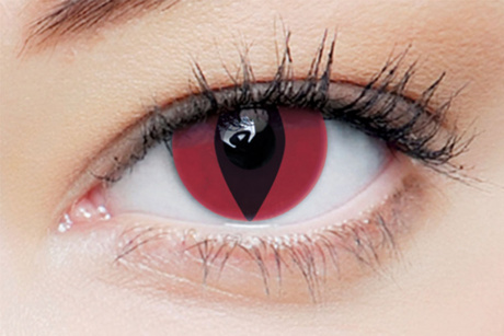 clearcolor phantom Red cat Clearlab Crazy contact lenses