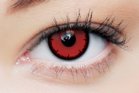 clearcolor phantom Angelic Red Clearlab Crazy contact lenses